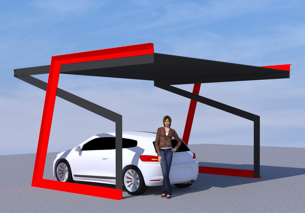solar car port copertina lavoro