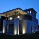 villa holly prospetto notturno